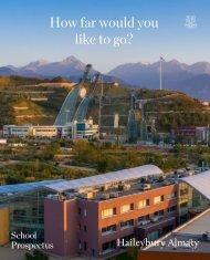 Haileybury Almaty Main School Prospectus 2020-2021