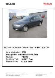SKODA OCTAVIA COMBI 4x4 1.9 TDI / 105 CP Anul ... - Delcar