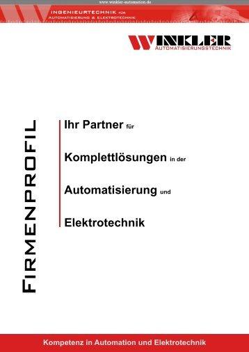Kompetenz in Automation und Elektrotechnik - Winkler-Automation