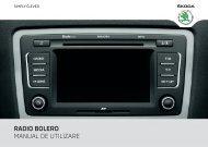 RADIO BOLERO MANUAL DE UTILIZARE - Media Portal - Škoda Auto