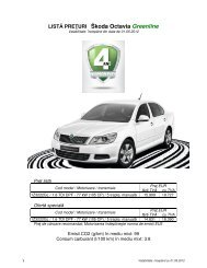 LISTĂ PREŢURI Škoda Octavia Greenline - Skoda