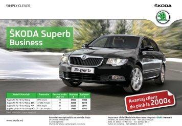 Superb Business lista de preturi.pdf - ŠKODA Auto Moldova