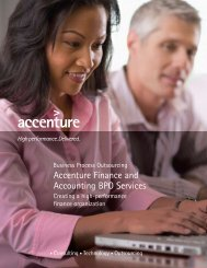 Accenture Finance and Accounting BPO Services