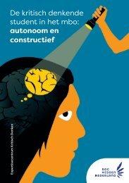 De kritisch denkende student in het mbo: autonoom en constructief