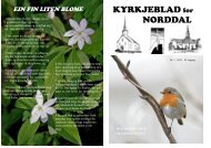 KYRKJEBLAD for NORDDAL - Norddal sokneråd
