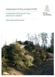 ENERGIPOTENSIALET FRA SKOGEN I NORGE - Skog og landskap