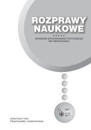 Rozprawy Naukowe 25 - Akademia Wychowania Fizycznego we ...