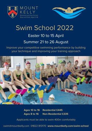 Mount Kelly Swim School 2021