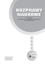 Rozprawy Naukowe 29 - Akademia Wychowania Fizycznego we ...