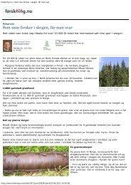 forskning.no > Som man forsker i skogen, får ... - Skog og landskap