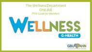 The Wellness Department ONLINE Guide for PHNS 2020