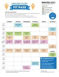 Dovercourt Winter 2021 FIT PASS Schedule
