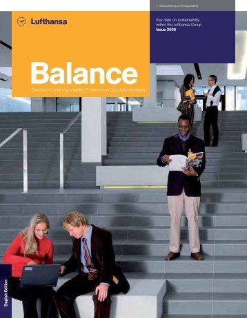 Sustainability report Balance 2009 - Verantwortung in der Lufthansa
