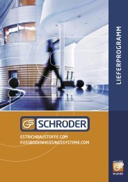 Lieferprogramms - Günter Schröder oHG