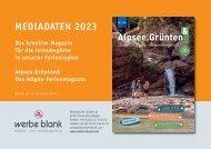 Alpsee Grünten & - Das Allgäu Ferienmagazin Mediadaten 2021