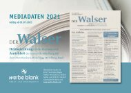 Der Walser Mediadaten 2021