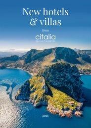 Citalia Brochure Supplement | New Hotels & Villas 2021