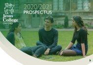 Jesus College Prospectus 2020-2021 - English