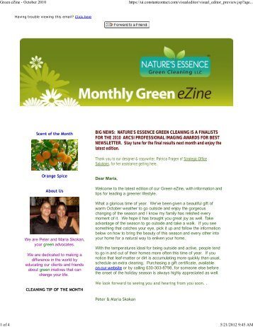 BIG NEWS: NATURE'S ESSENCE GREEN CLEANING IS A ...