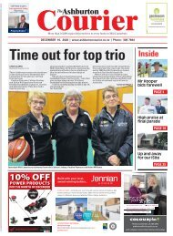 Ashburton Courier: December 10, 2020