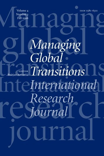 Globalization Otherwise? - UP Fakulteta za management