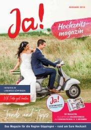 Ja! Die Hochzeitsmesse auf Schloss Filseck - Messemagazin 2019