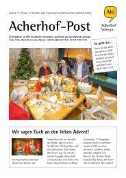 Acherhof-Post Nr. 21   11. Dezember 2020