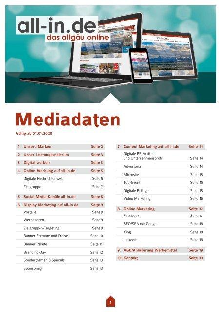 Mediadaten all-in.de 2020