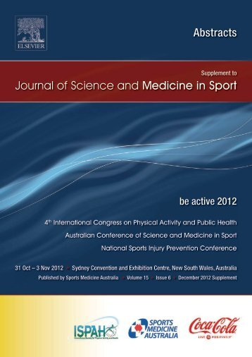 BE ACTIVE 2012 ABSTRACTS - Sports Medicine Australia