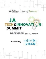 2020 JA Tech & Innovation Summit Digital Program