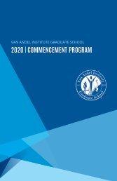 2020 Graduate School Commencement Program
