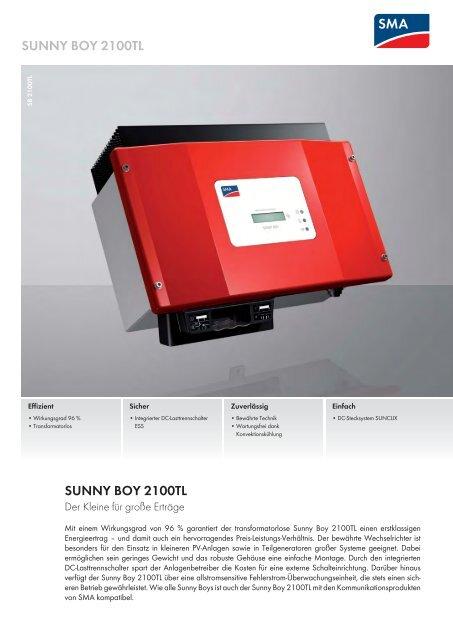 sma-sunny boy 2100tl
