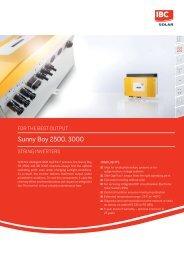 Datasheet - IBC SOLAR