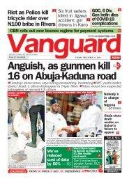 11122020 - Anguish, as gunmen kill 16 on Abuja-Kaduna road