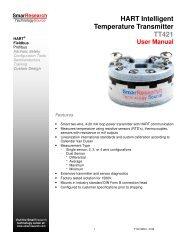 HART Intelligent Temperature Transmitter TT421 - smarresearch