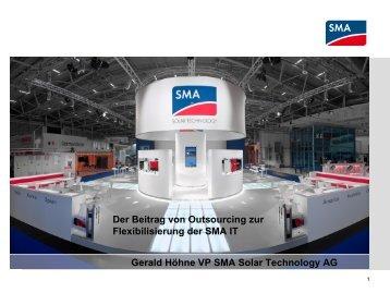 SMA Übersicht - Entscheiderforum Outsourcing