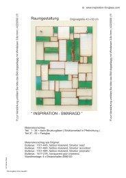 """ INSPIRATION - SMARAGD "" Raumgestaltung - Inspiration for Glass"