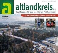 altlandkreis - Das Magazin für den westlichen Pfaffenwinkel - Ausgabe Januar/Februar 2021