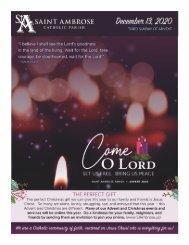 Saint Ambrose December 13 Bulletin