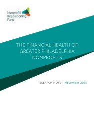 The Financial Health of Greater Philadelphia Nonprofits