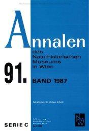 des naturhistorischen museums in wien 9 1 . band 1987/serie c