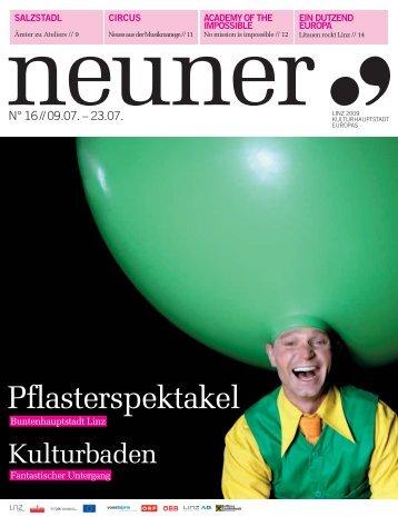 Neuner, Ausgabe 16: 9. Juli - Linz