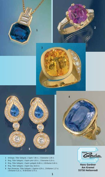 Ring, 750er Gelbgold, 1 Saphir pink 4,26 - Hans Gordner