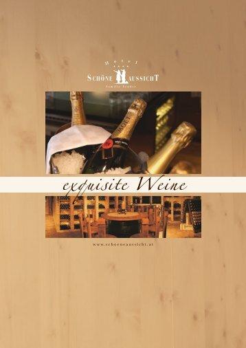 Weinkarte - Hotel Schöne Aussicht