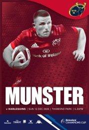 Munster Rugby v Harlequins Match Programme