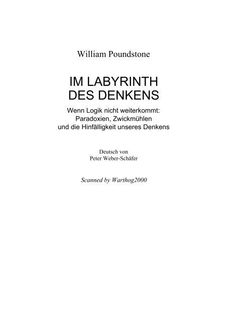 Im Labyrinth des Denkens - Lalegion-pictures.com
