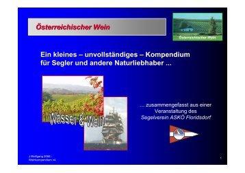 Österreichischer Wein - Segelverein ASKÖ Floridsdorf