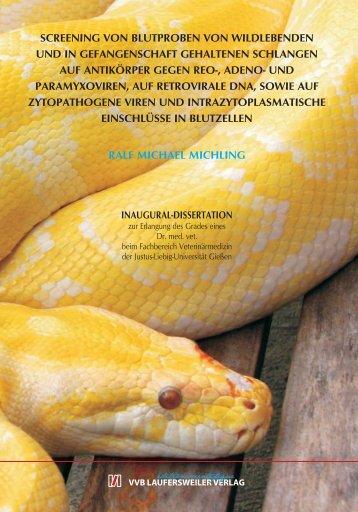 Screening von Blutproben von wildlebenden und in Gefangenschaft ...