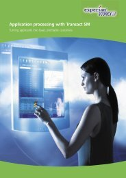 Application processing with Transact SM - Experian Ireland