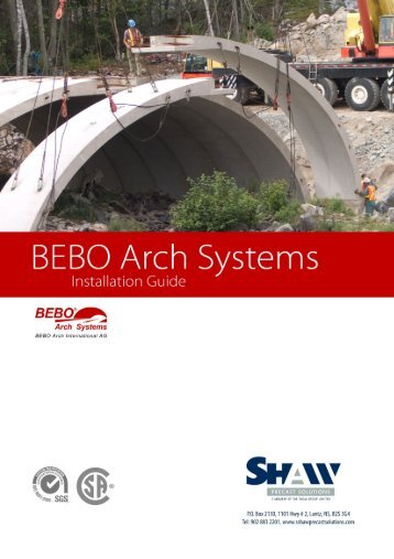 BEBO System Instructions - Shaw Precast Solutions